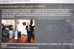 2018-05-13 Hans Strootman geeft 10 jaar lezingen in Eindhoven